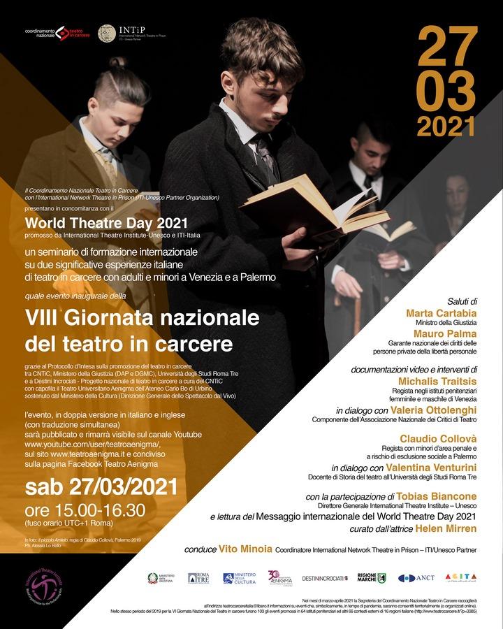 Evento inaugurale della VIII Giornata Nazionale del Teatro in Carcere 2021
